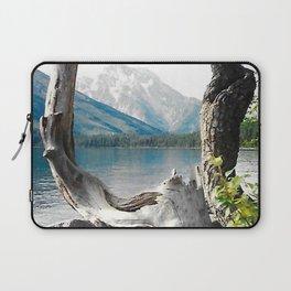 Tetons at Jackson Lake Wyoming Laptop Sleeve