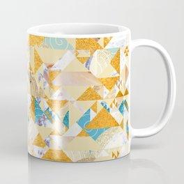 Maroccan Golden Geometric Pattern Coffee Mug