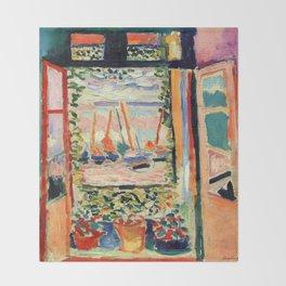 Henri Matisse The Open Window Throw Blanket