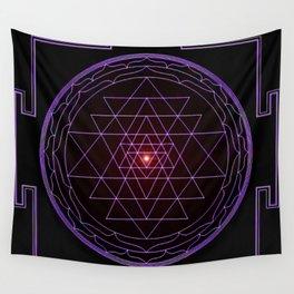 Ultraviolet Sri Yantra Wall Tapestry