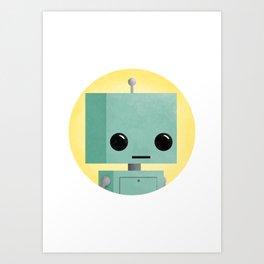 Ronnie the Robot Art Print