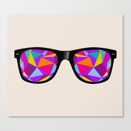 sunglasses with abstract geometric triangles Canvas Print