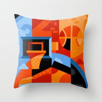 basketball Throw Pillows featuring Basketball by koivo