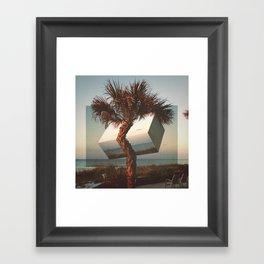 twisted palm Framed Art Print