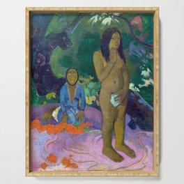 "Paul Gauguin ""Parau na te Varua ino (Words of the Devil)"" Serving Tray"