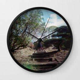 Dreaming Girl in Onshi-Hakone Park - Hakone, Japan - Holga Film Photograph Wall Clock