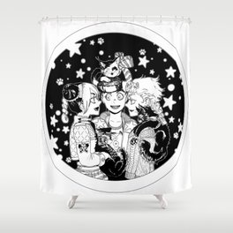 Three cats Shower Curtain