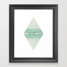 Parallel Waves Framed Art Print