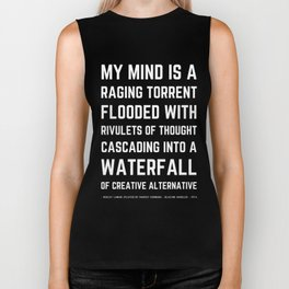 Wacky Funny Blazing Saddles Quote by Harvey Korman Mel Brooks Biker Tank