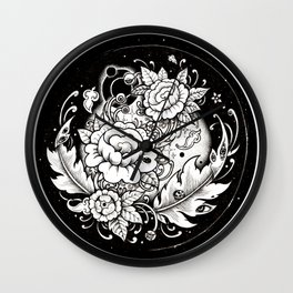 Flower in the sky Wall Clock