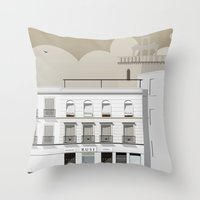 buildings Throw Pillows featuring Buildings by Studio Caravan