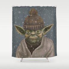 Christmas Yoda Shower Curtain