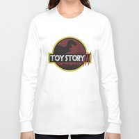 jurassic park Long Sleeve T-shirts featuring toy story / jurassic park by tshirtsz