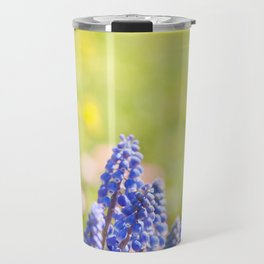 Blue Muscari Mill clump of grapes Travel Mug
