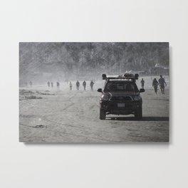 Lifeguard truck on the beach Metal Print