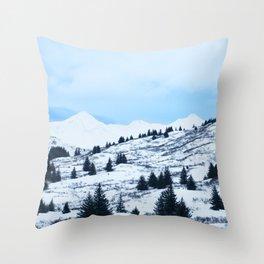 Winter Landscape Photography Print Throw Pillow