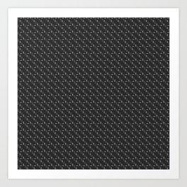 Carbon fibre - silver wire reinforcing Art Print