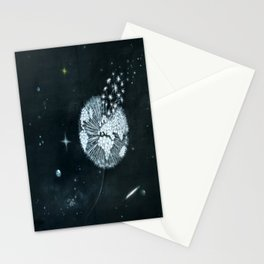 Blowing in Space Stationery Cards