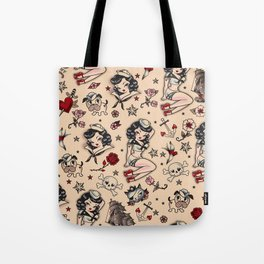Suzy Sailor Pattern Tote Bag