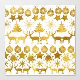 Gold Christmas 04 Canvas Print