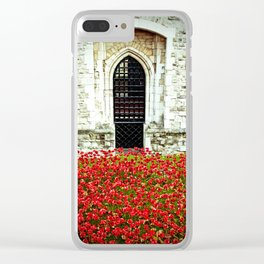 Tower of London Poppy Clear iPhone Case