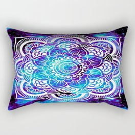 Mandala : Bright Violet & Teal Galaxy Rectangular Pillow
