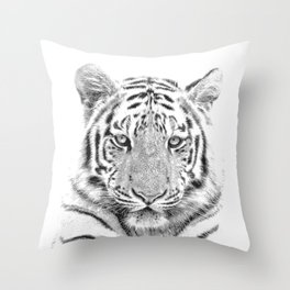 Black and white tiger Throw Pillow