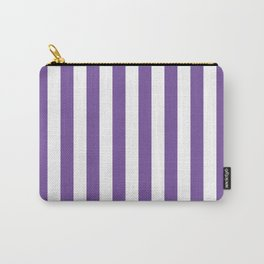 Vertical Purple Stripes Carry-All Pouch