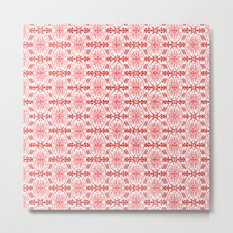 Peppermint Winter Red and White with Pink Accents High Contrast Spirit Organic Metal Print