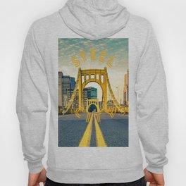 Pittsburgh Steel City Bridge Print Hoody