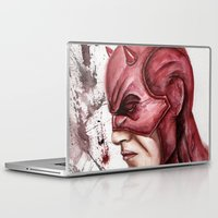 daredevil Laptop & iPad Skins featuring Daredevil by rchaem