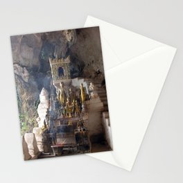 Buddhist Shrine Buddha Statues in Pak Ou Caves, Laos Stationery Cards