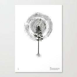 Pine white Canvas Print