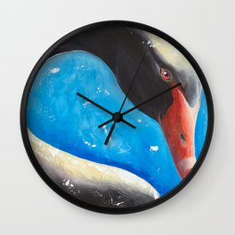 "Black swan - ""Sun bath"" - by LiliFlore Wall Clock"