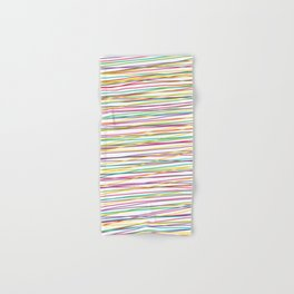 Colorful Abstract strips grid Hand & Bath Towel