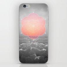 The Sun Is But A Morning Star (Mono Geometric Sunrise) iPhone & iPod Skin
