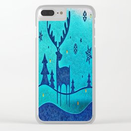Capri Winter Reindeer Clear iPhone Case