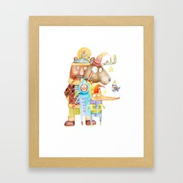 Christmas Animals Framed Art Print
