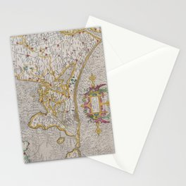 Vintage Map of Holland (1606) Stationery Cards
