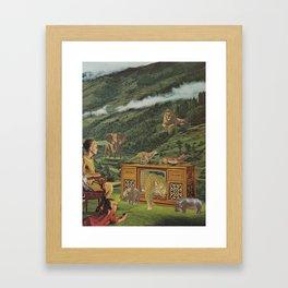 4K television Framed Art Print
