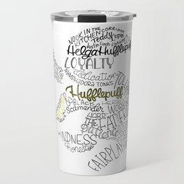 Hufflepuff House Crest Travel Mug