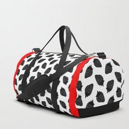 Black Strawberries Duffle Bag