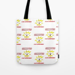 Gymnastics is my Superpower (Tiled Version) Tote Bag