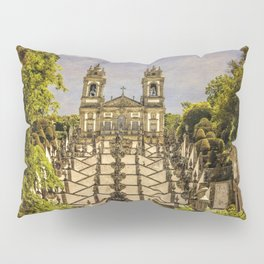 Portugal, Minho district, Braga, the sanctuary of Bom Jesus and the baroque stairway Pillow Sham