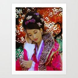 Chinese beauty Art Print
