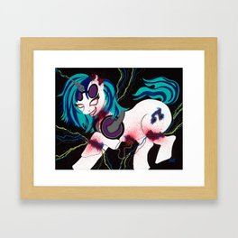 Vinyl Scratches Framed Art Print