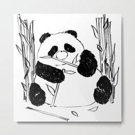 Fat Panda Metal Print