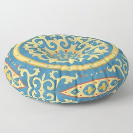 Kazakh national ornament Floor Pillow