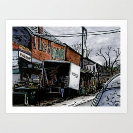 Kensington Market Delivery Art Print