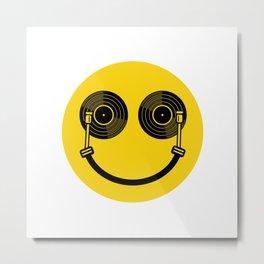 Smile DJ Metal Print